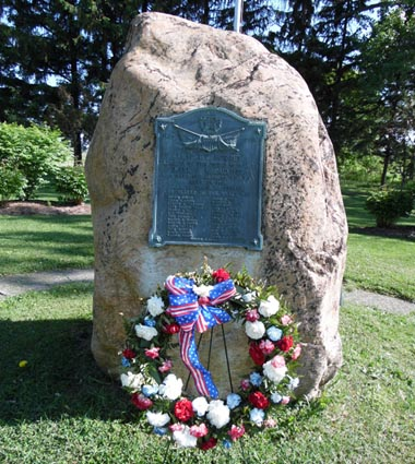 Memorial Day at Preble Boulder, Photo by Bill and Sue Wright